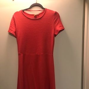 Coral knit dress